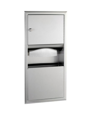 B-369 -  Recessed Paper Towel Dispenser and Waste Receptacle