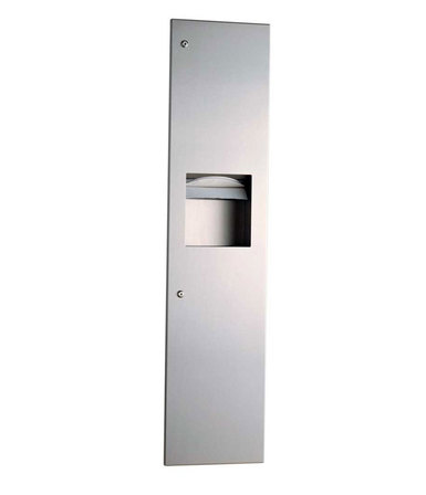 B-3803 Trimline Recessed Paper Towel Dispenser/Waste Receptacle